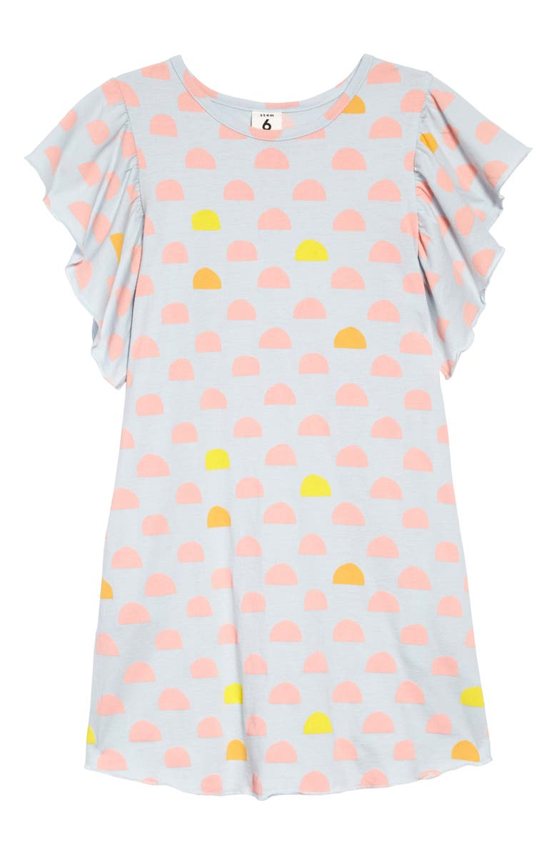 STEM Ruffle Sleeve Dress, Main, color, 450
