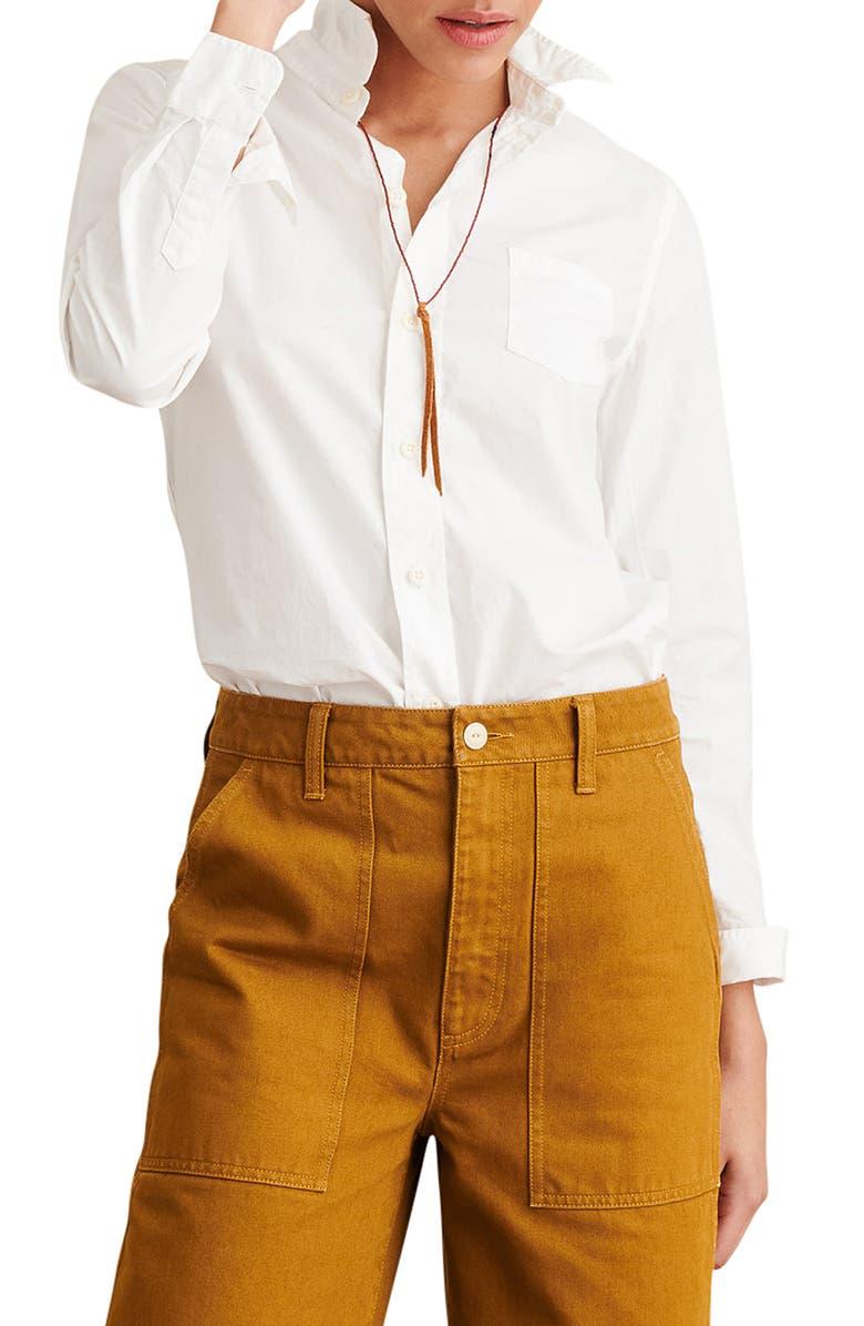 ALEX MILL Shrunken Button-Up Shirt, Main, color, 100