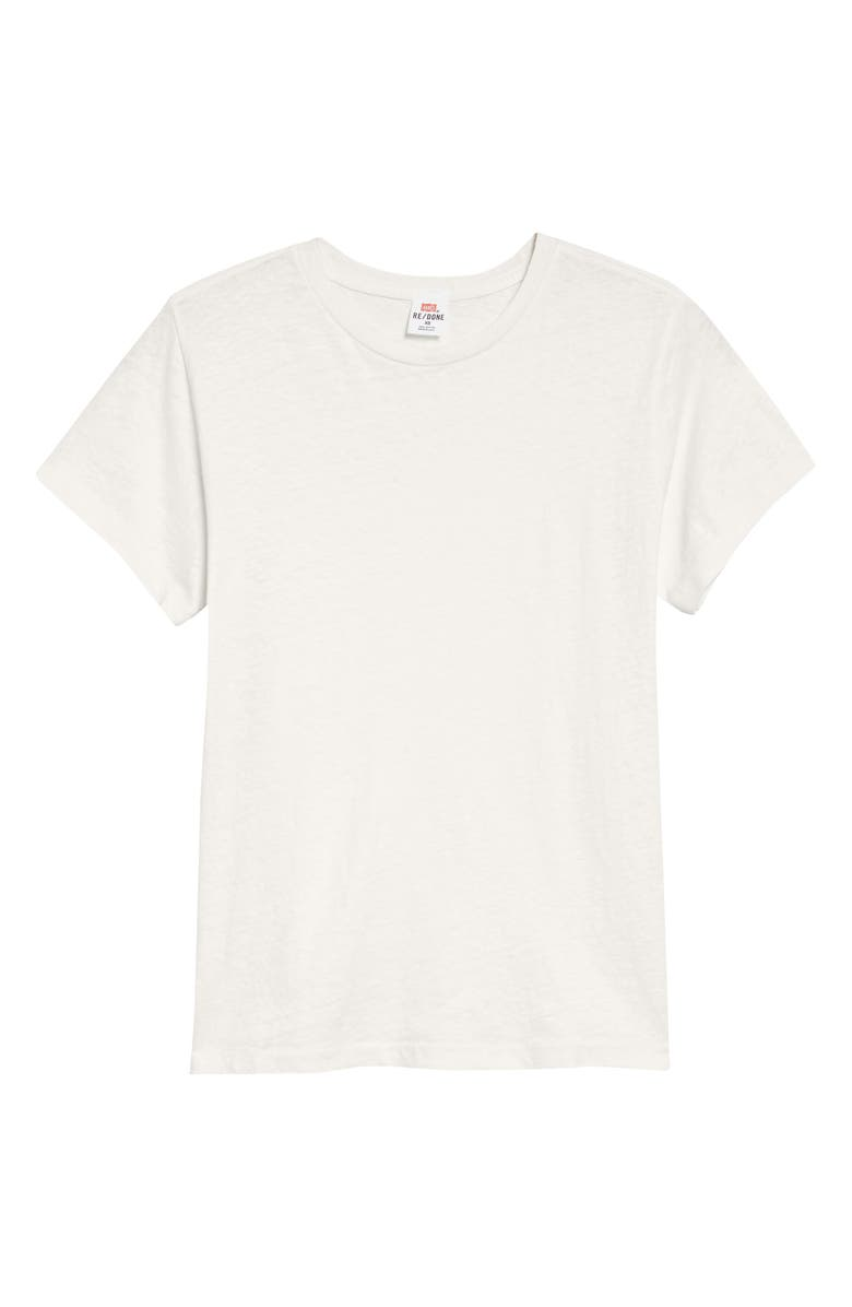 RE/DONE x Hanes The Classic Tee, Main, color, VINTAGE WHITE
