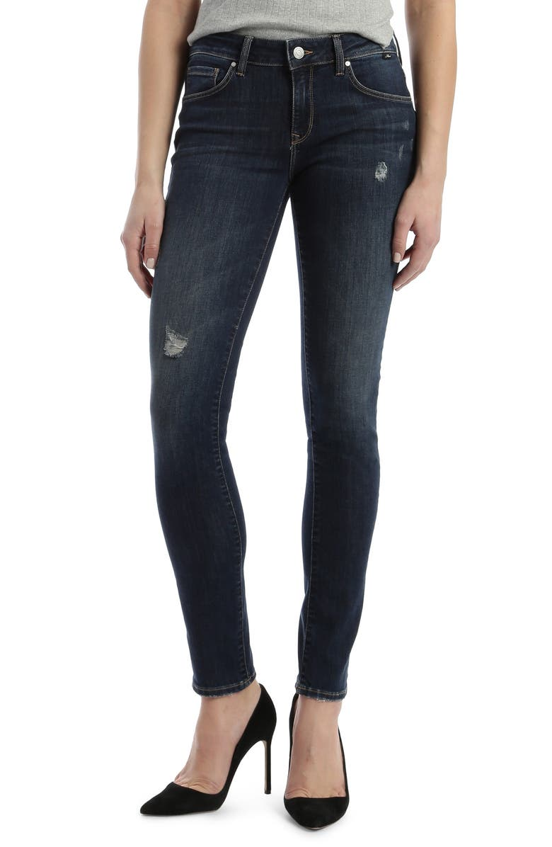 MAVI JEANS Alexa Distressed Skinny Jeans, Main, color, 401
