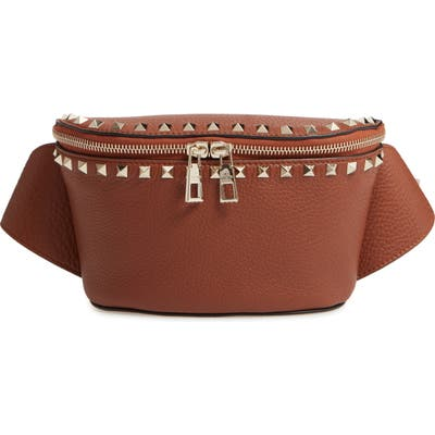 Valentino Garavani Rockstud Belt Bag - Brown