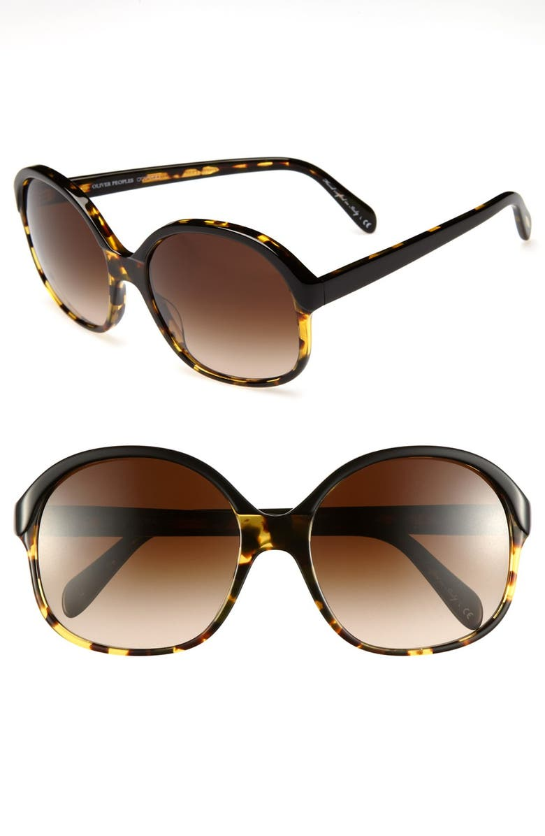 OLIVER PEOPLES 'Casandra' 61mm Sunglasses, Main, color, 001