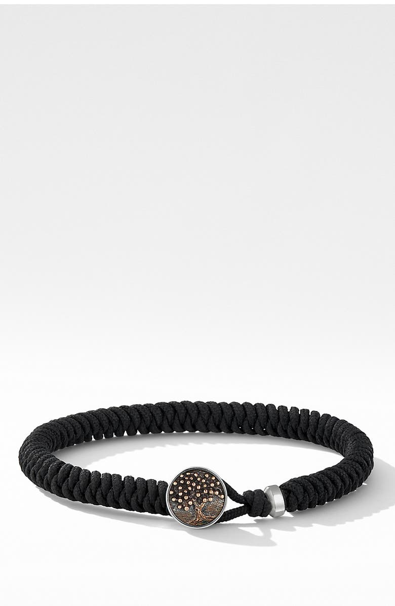 DAVID YURMAN Woven Tree of Life Bracelet, Main, color, BLACK