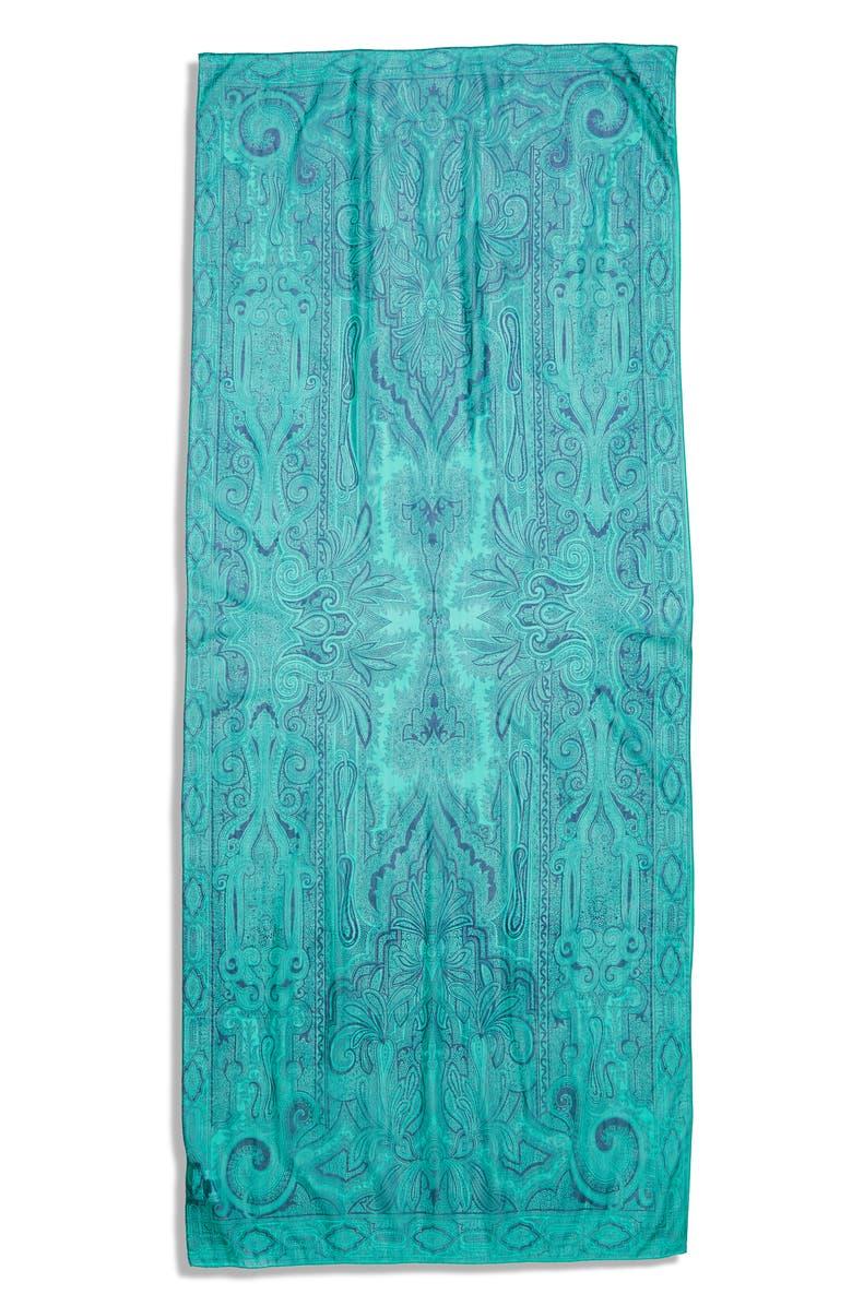 ETRO Delhy Floral Silk Scarf, Main, color, 440