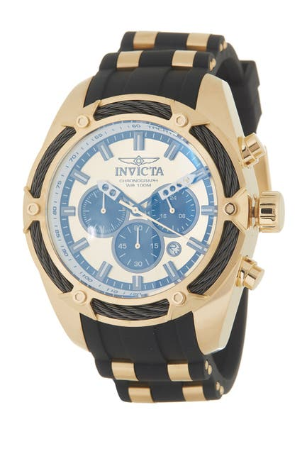 Image of Invicta Men's Bolt Chronograph Silicone Strap Watch, 52mm