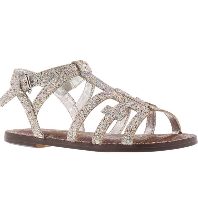 SAM EDELMAN Gigi Cara Glitter Sandal, Main, color, 043