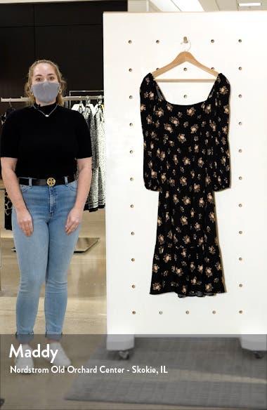 Floral Long Sleeve Midi Dress, sales video thumbnail