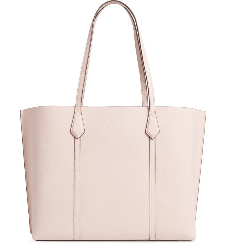 TORY BURCH Perry Leather Tote, Alternate, color, SHELL PINK