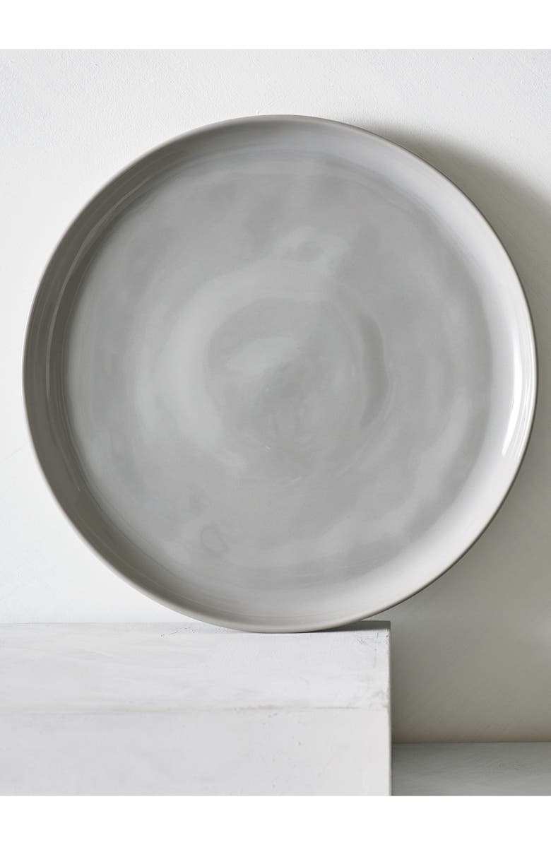 THE WHITE COMPANY Portobello Dinner Plate, Main, color, GREY