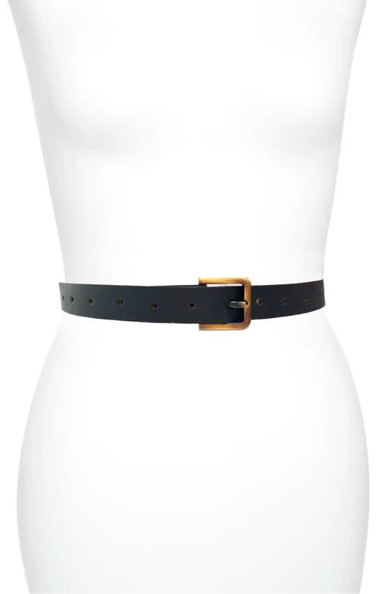 Ada Phoenix Skinny Leather Belt In Black