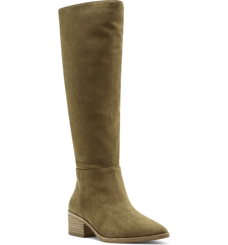 VINCE CAMUTO Beaanna Knee High Boot, Main, color, DOGWOOD SUEDE