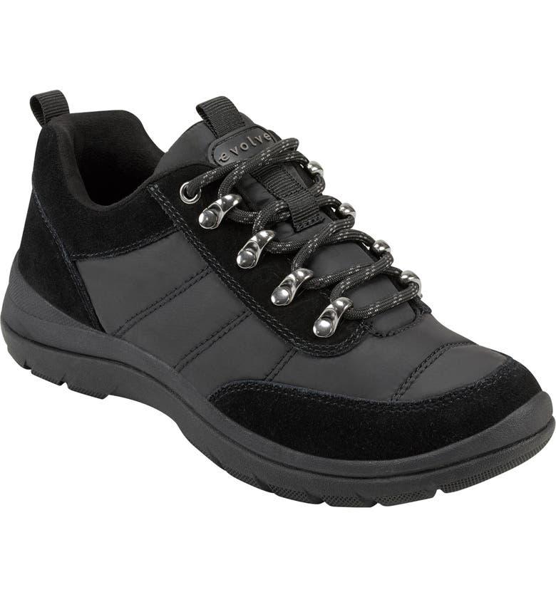 EVOLVE Froze Lace-Up Sneaker, Main, color, BLACK SUEDE