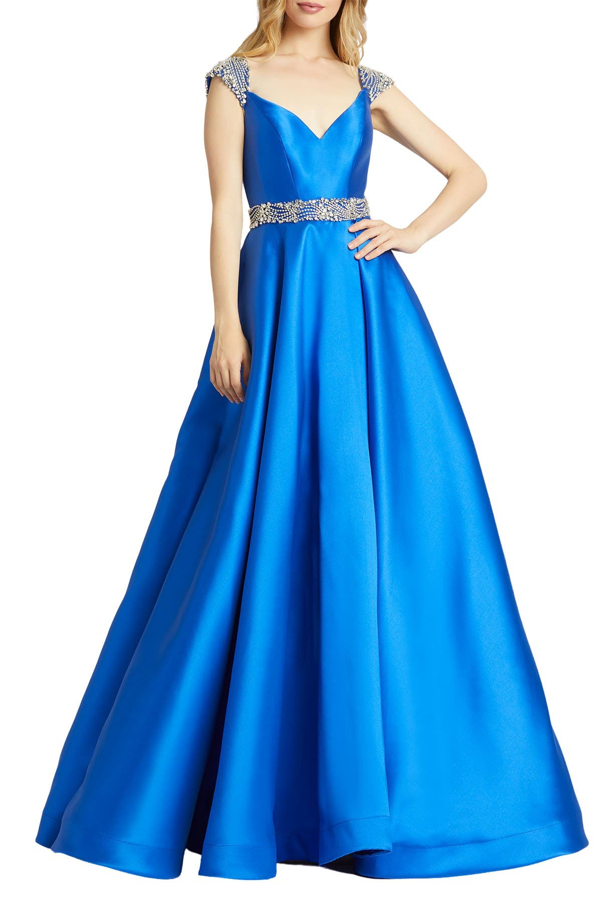 Image of Mac Duggal Sweetheart A-Line Satin Gown