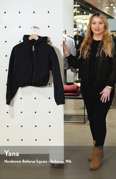 Hooded Crop Denim Jacket, sales video thumbnail