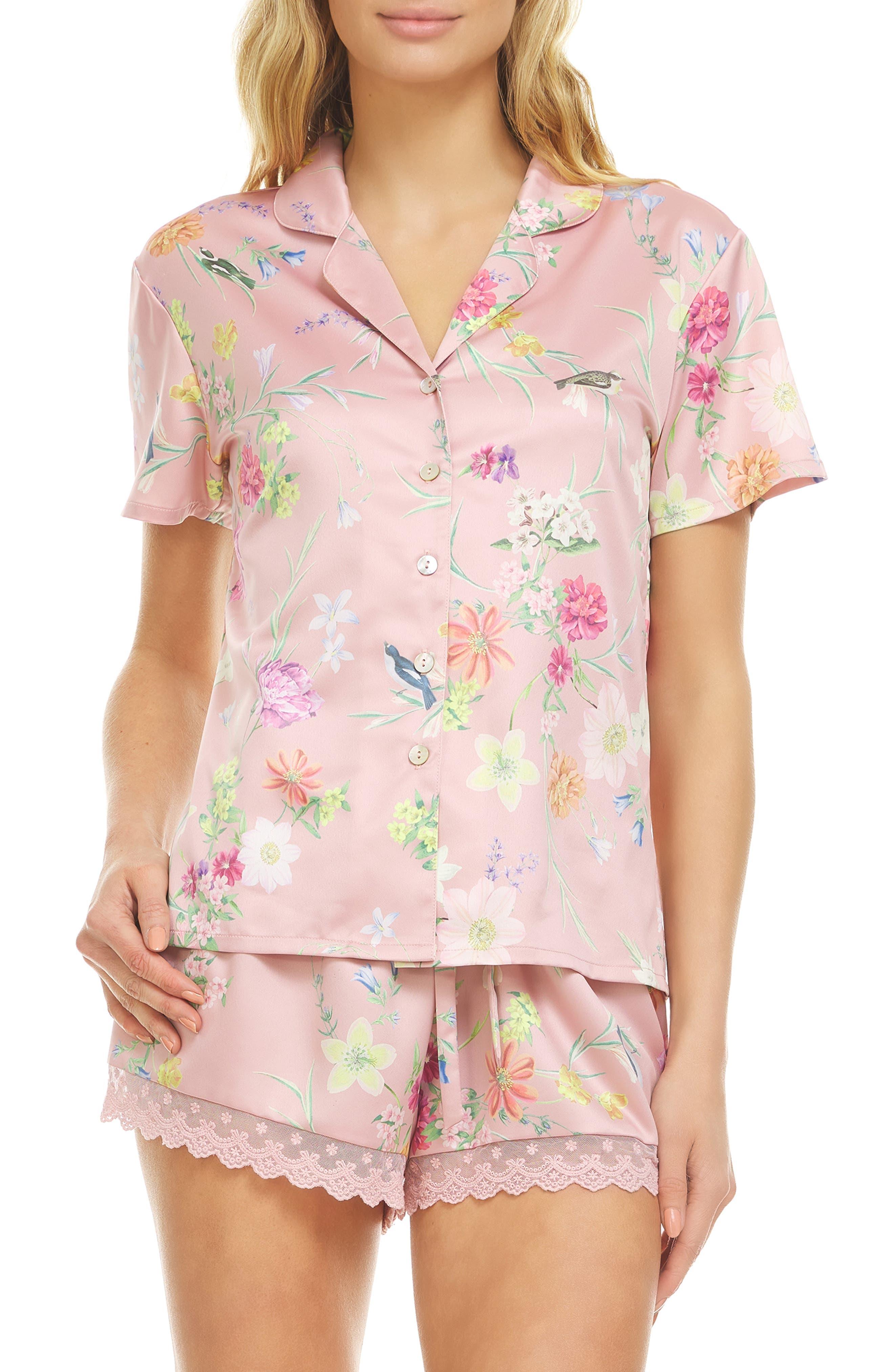 Jolene Floral Print Short Pajamas