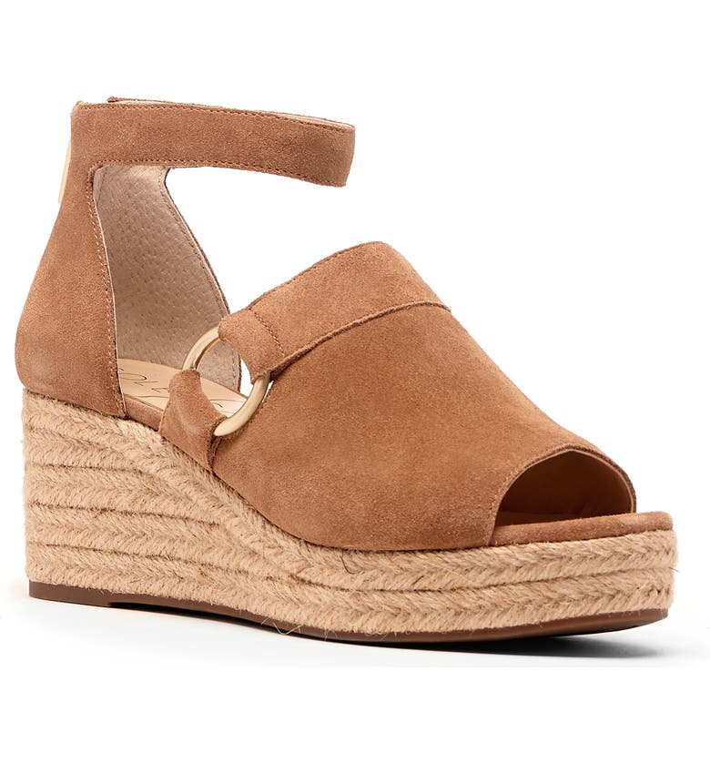 SOLE SOCIETY Caillen Espadrille Wedge Sandal, Main, color, WALNUT SUEDE