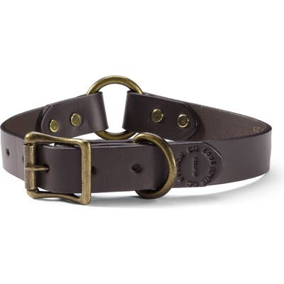 Filson Leather Dog Collar, 3 - Brown