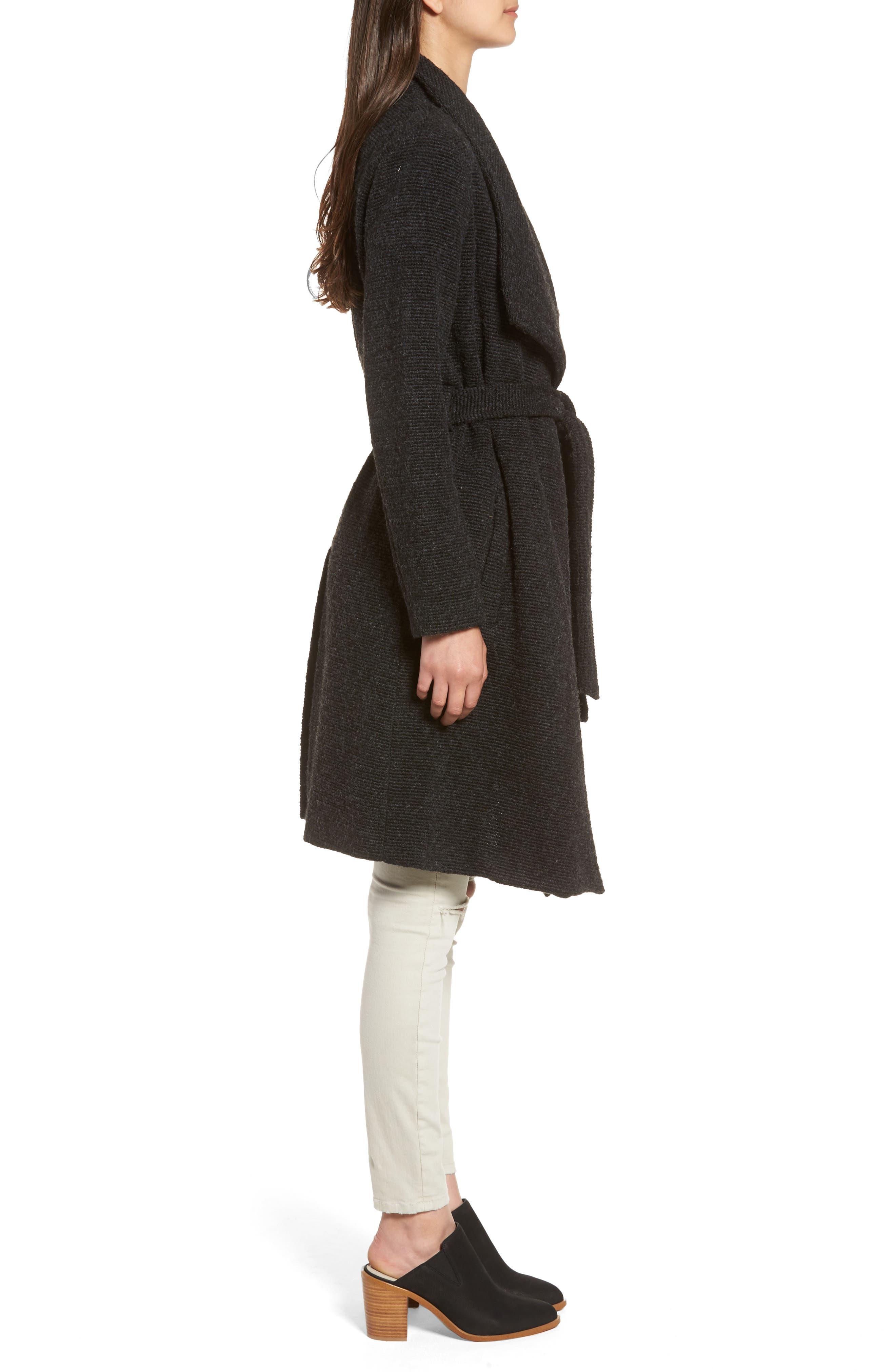,                             Issac Ribbed Blanket Coat,                             Alternate thumbnail 3, color,                             025