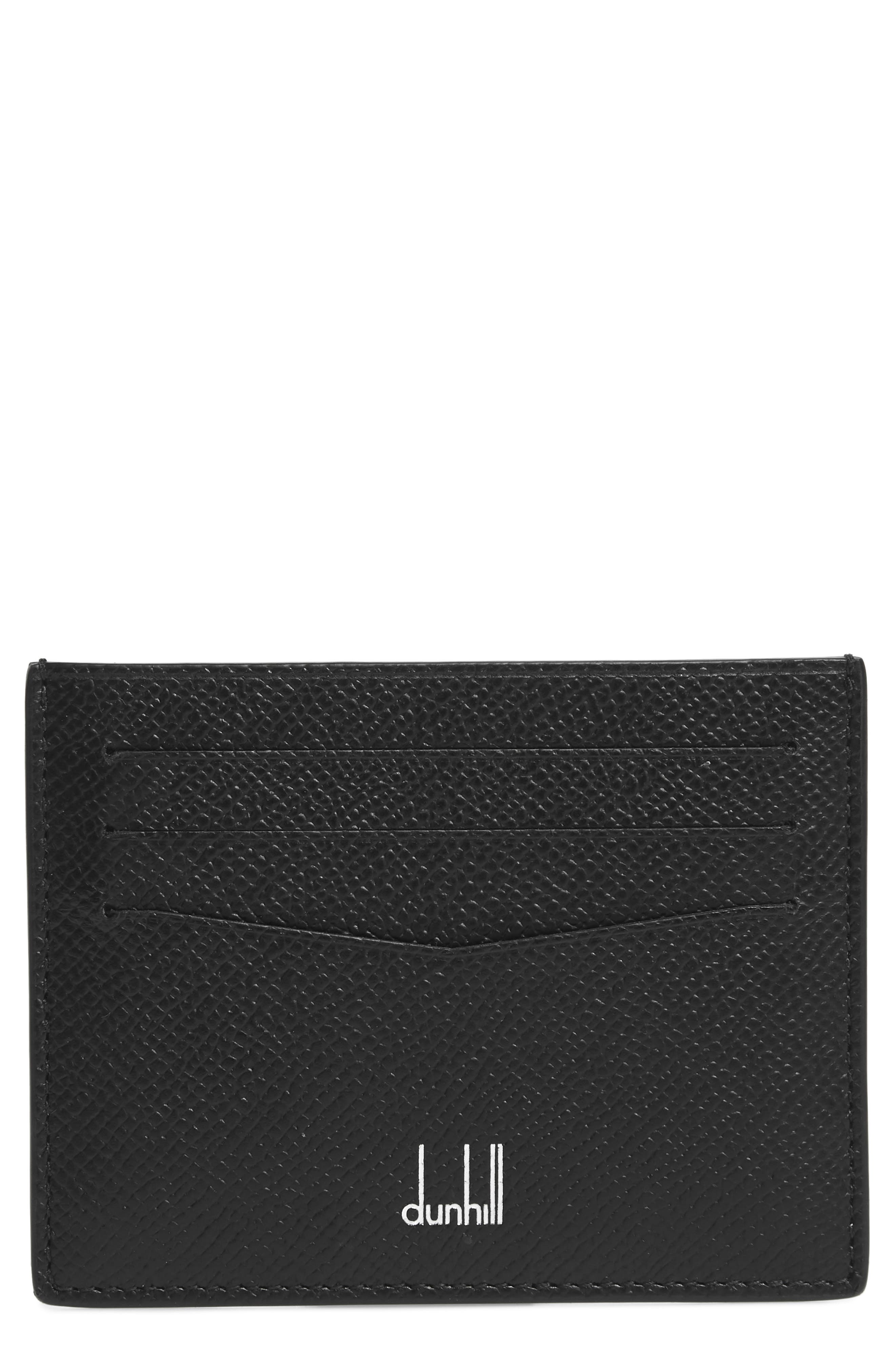 Dunhill Cadogan Leather Card Case - Black