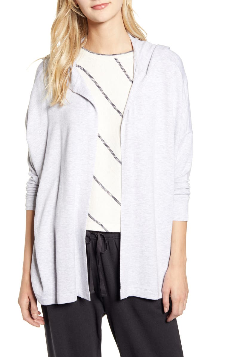 LOU & GREY Signaturesoft Hooded Cardigan, Main, color, 020