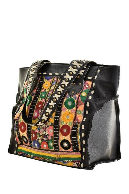 Image of Vintage Addiction Leather Studded Shoulder Bag
