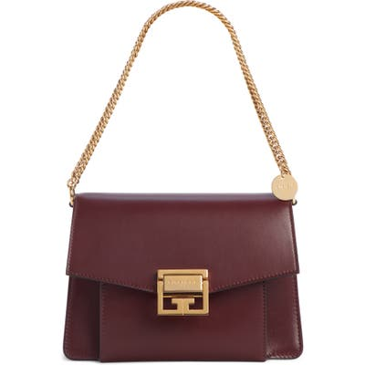 Givenchy Small Gv3 Leather Crossbody Bag - Burgundy