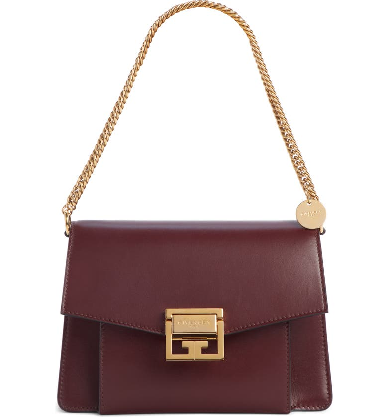 GIVENCHY Small GV3 Leather Crossbody Bag, Main, color, AUBERGINE