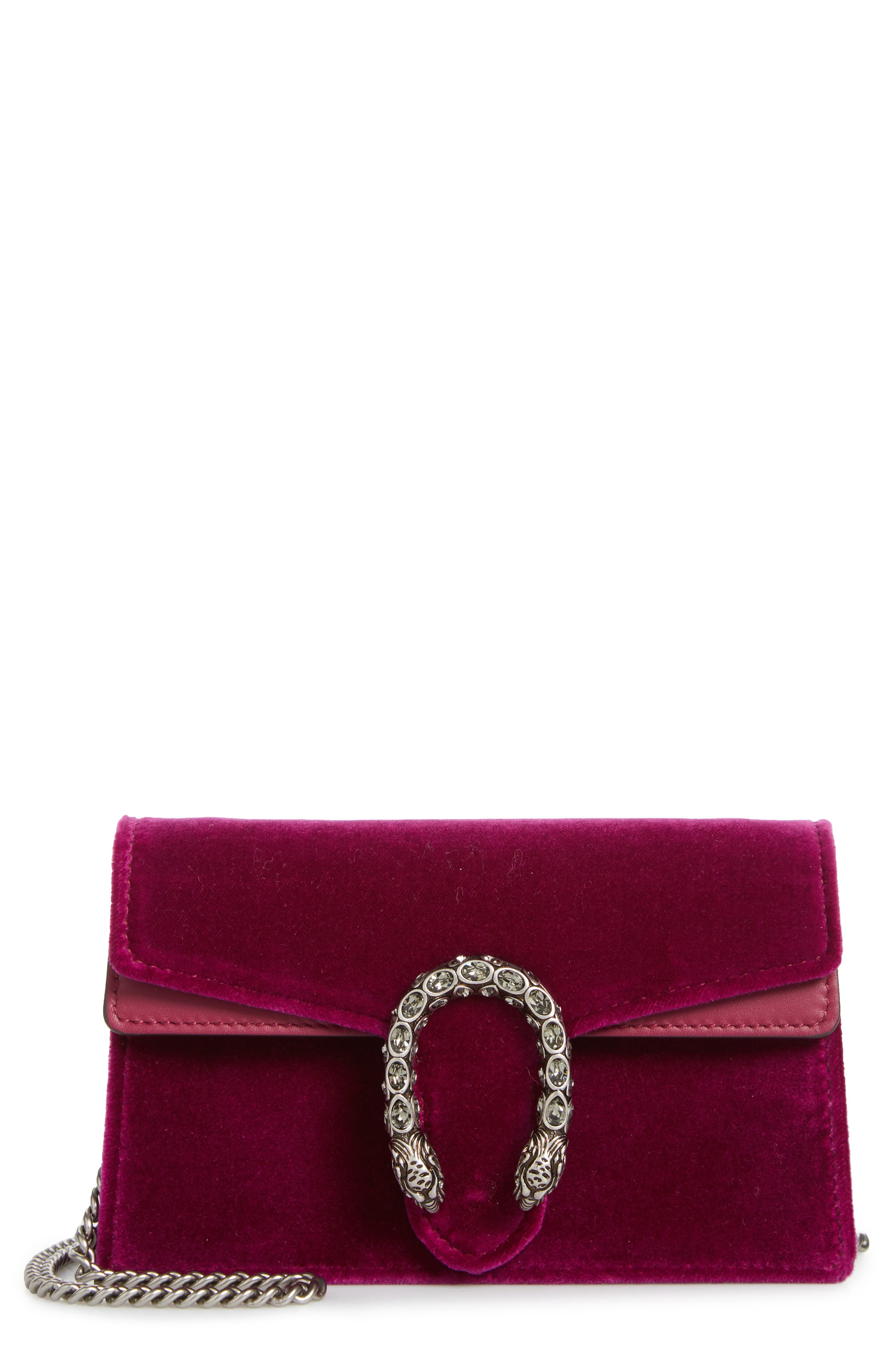 ,                             Super Mini Dionysus Velvet Shoulder Bag,                             Main thumbnail 13, color,                             560