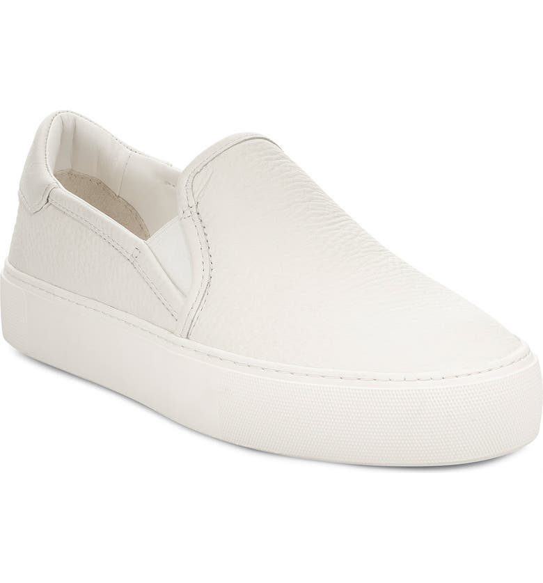 UGG<SUP>®</SUP> Jass Slip-On Sneaker, Main, color, WHITE LEATHER