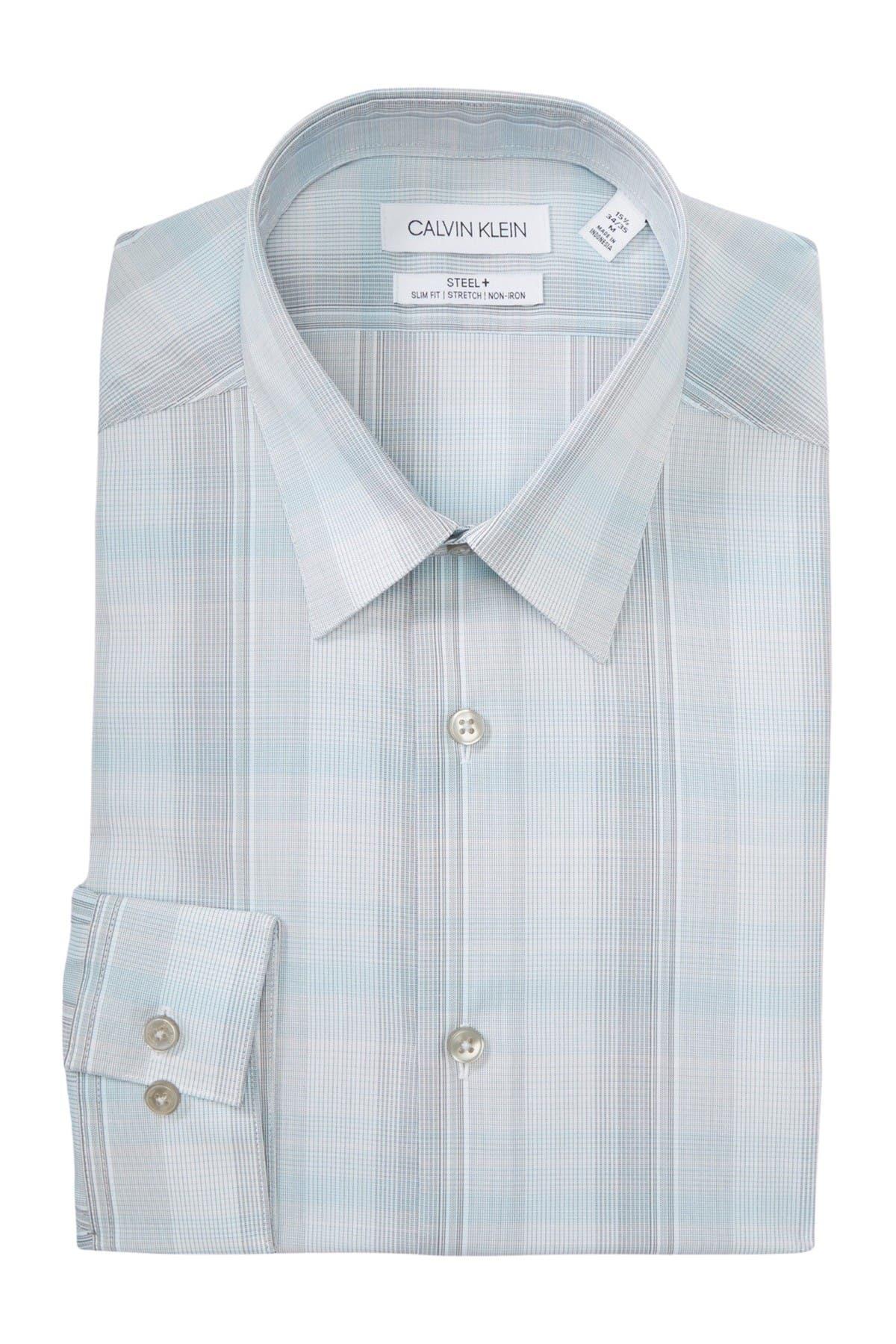 Image of Calvin Klein Steel+ Slim Fit Dress Shirt