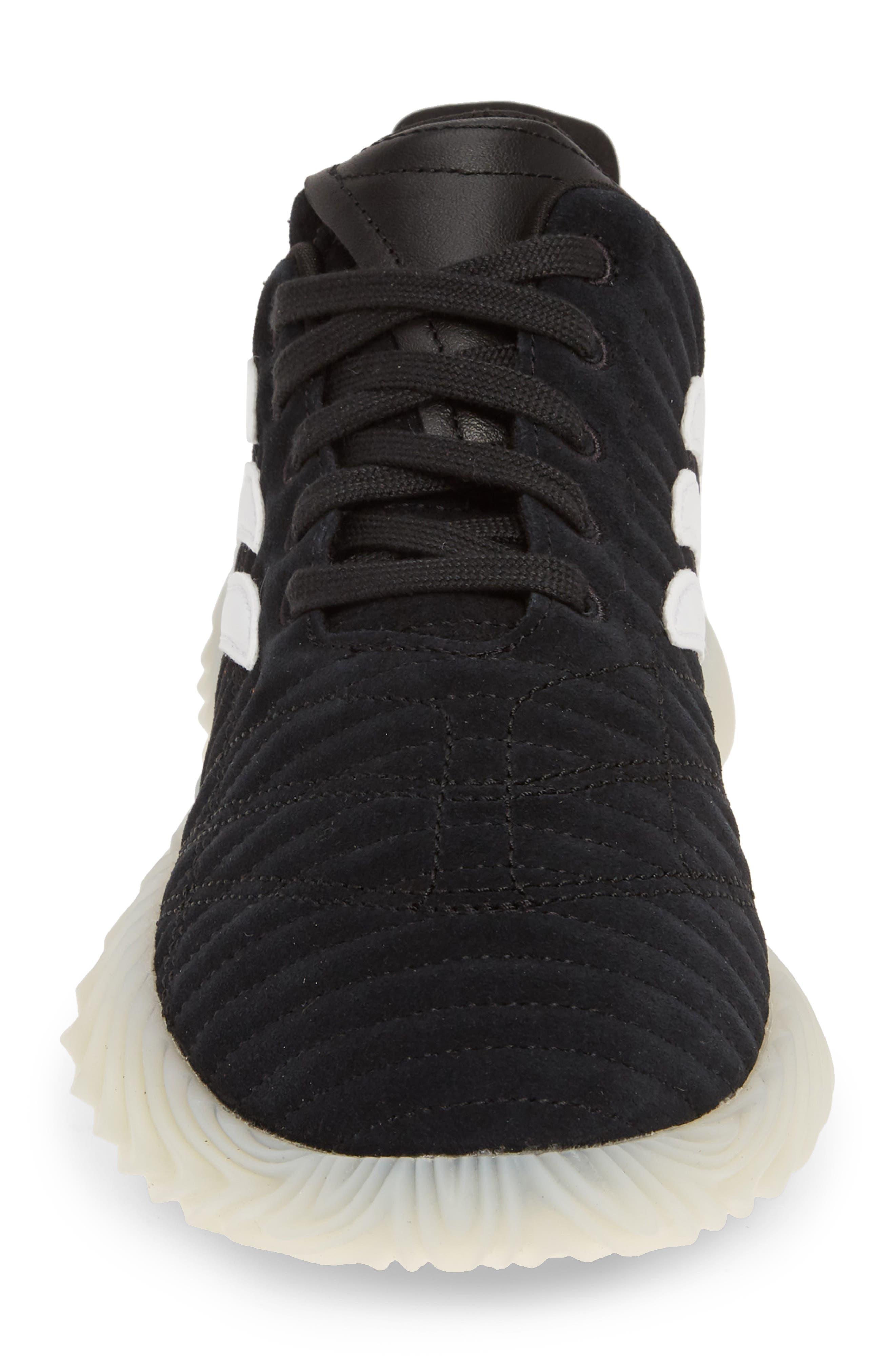 ,                             Sobakov Sneaker,                             Alternate thumbnail 4, color,                             CORE BLACK/ OFF WHITE/ AMBER