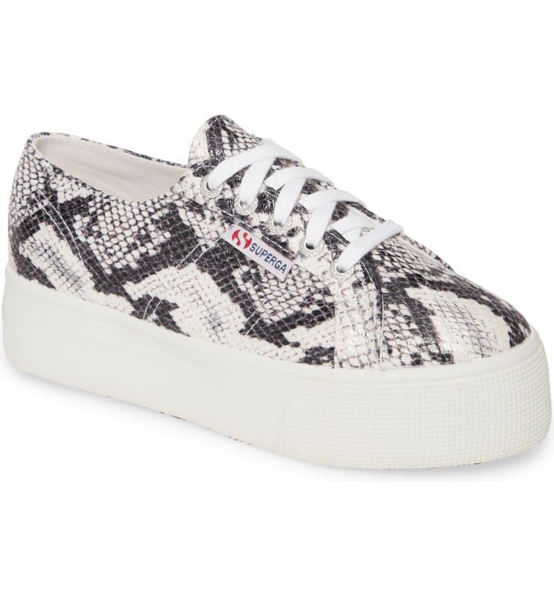 SUPERGA 2750 Fancotw Snake Print Sneaker, Main, color, NATURAL SNAKE PRINT LEATHER