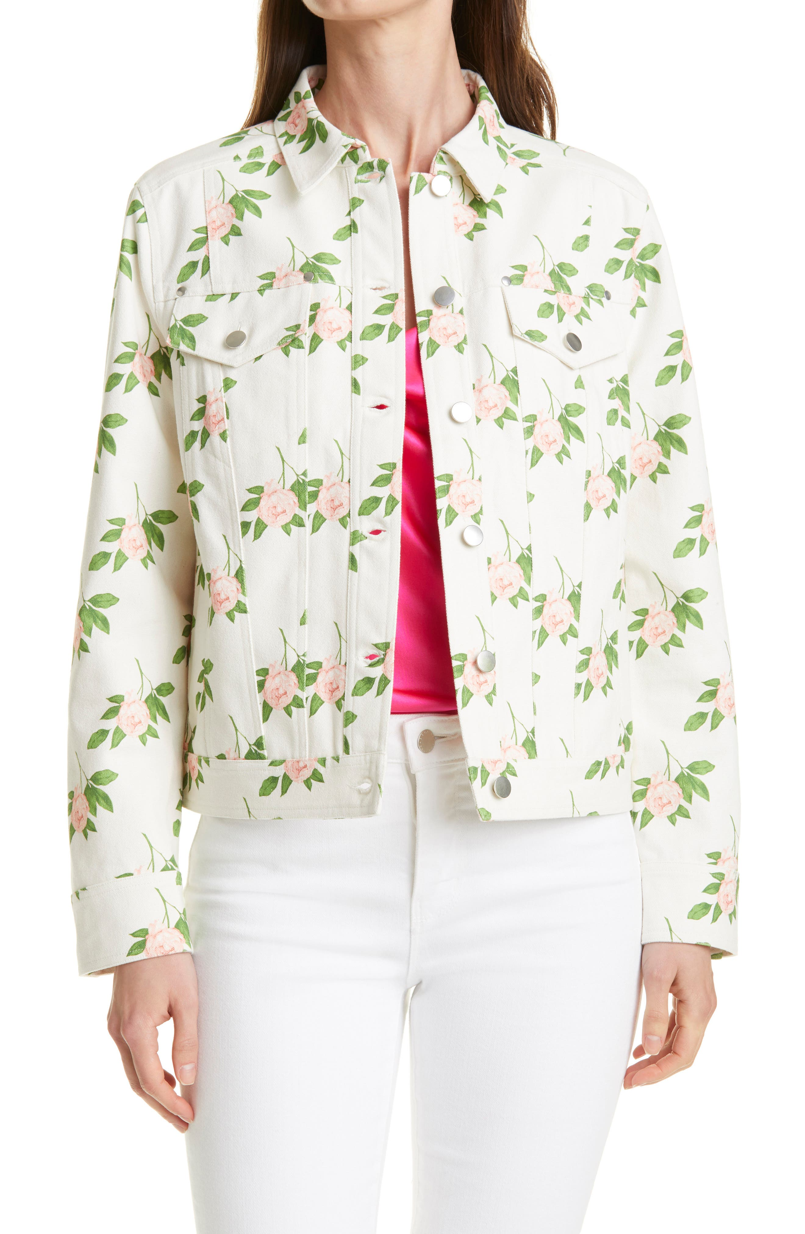 Floral Print Canvas Jacket