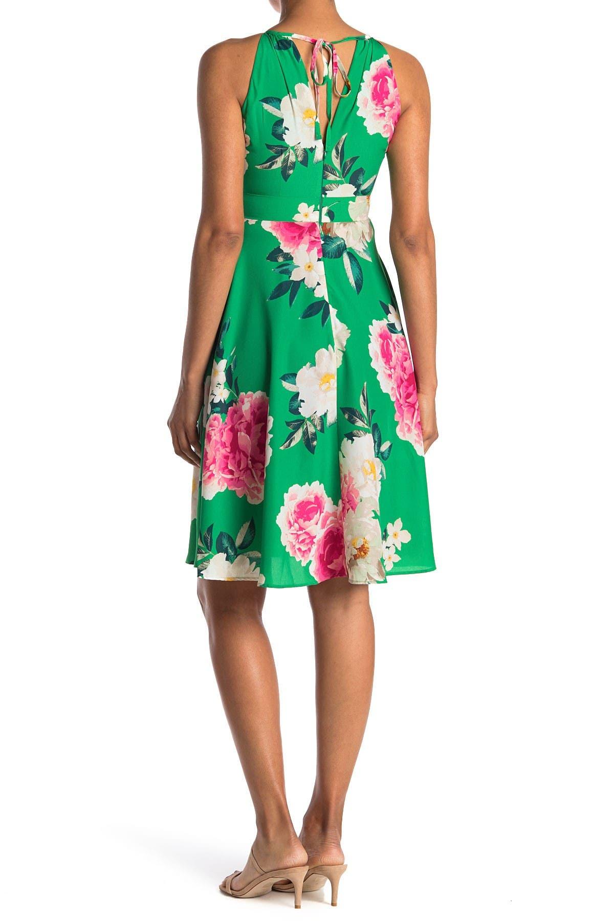 Image of Eliza J Floral Print Midi Dress