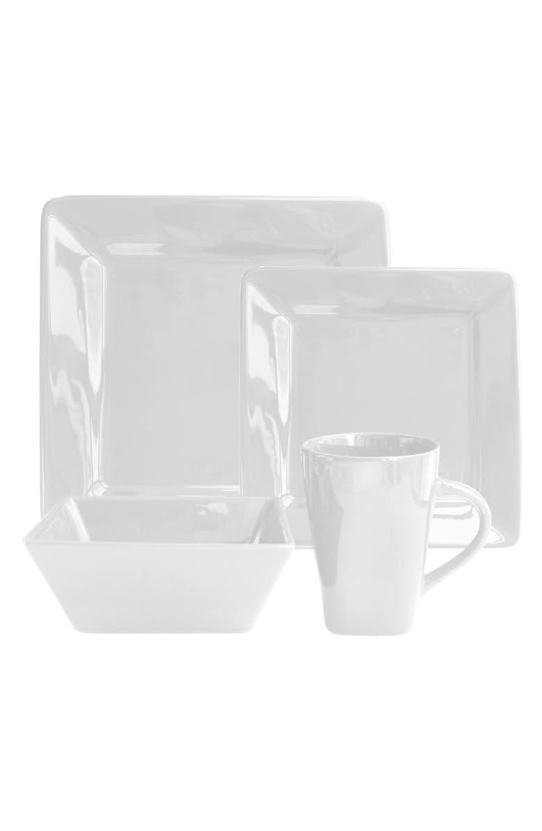 AMERICAN ATELIER Kingsley 16-Piece Dinnerware Set, Main, color, WHITE