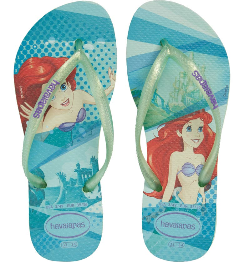 HAVAIANAS 'Disney Princess' Flip Flops, Main, color, 301