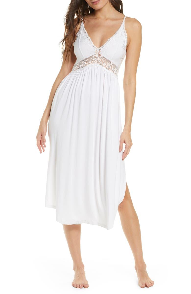 EBERJEY 'Colette' Nightgown, Main, color, WHITE