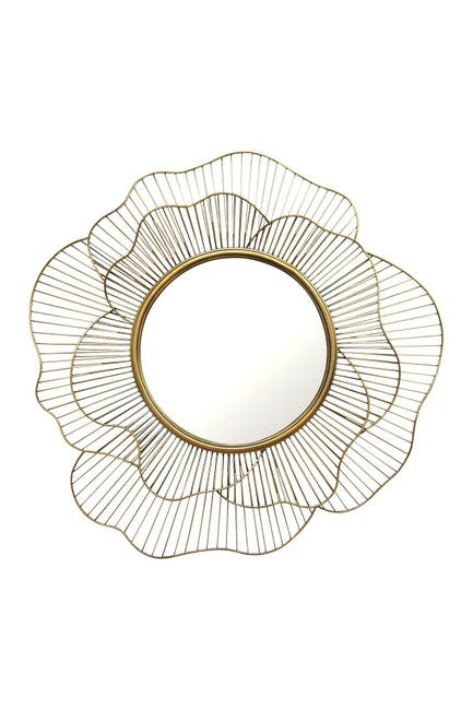Image of Stratton Home Gold Stella Wall Mirror