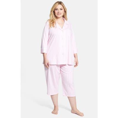 Plus Size Lauren Ralph Lauren Knit Crop Pajamas
