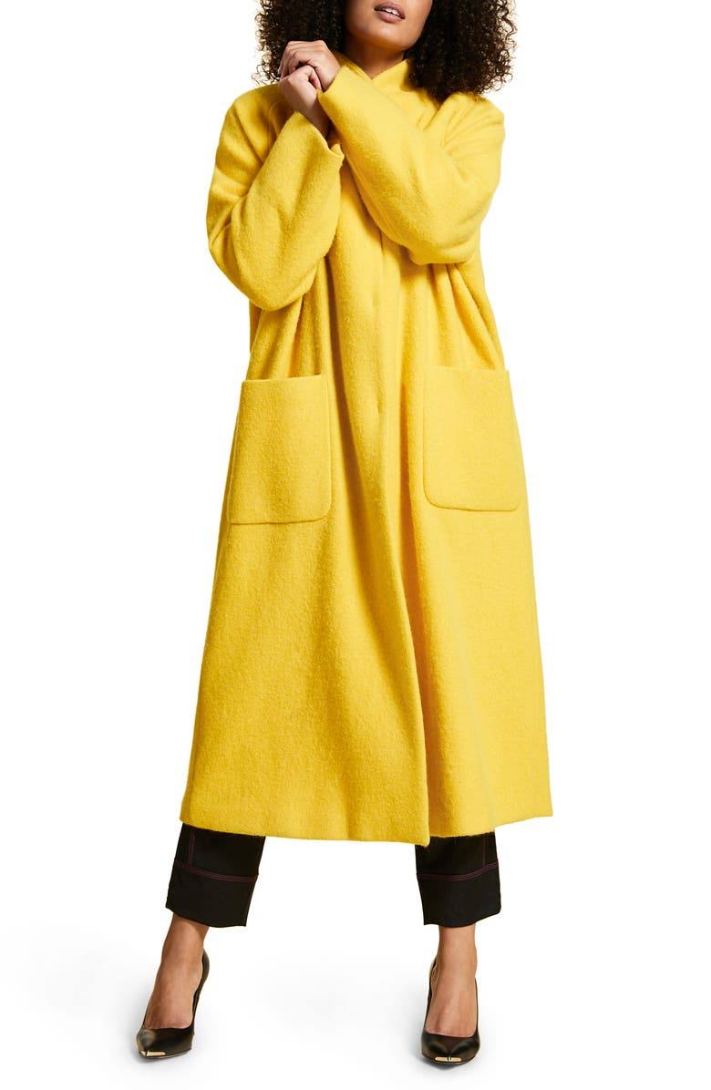 MARINA RINALDI Tempiere Alpaca & Wool Coat, Main, color, 700