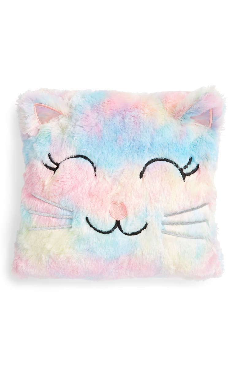 CAPELLI NEW YORK Faux Fur Kitty Accent Pillow, Main, color, 950