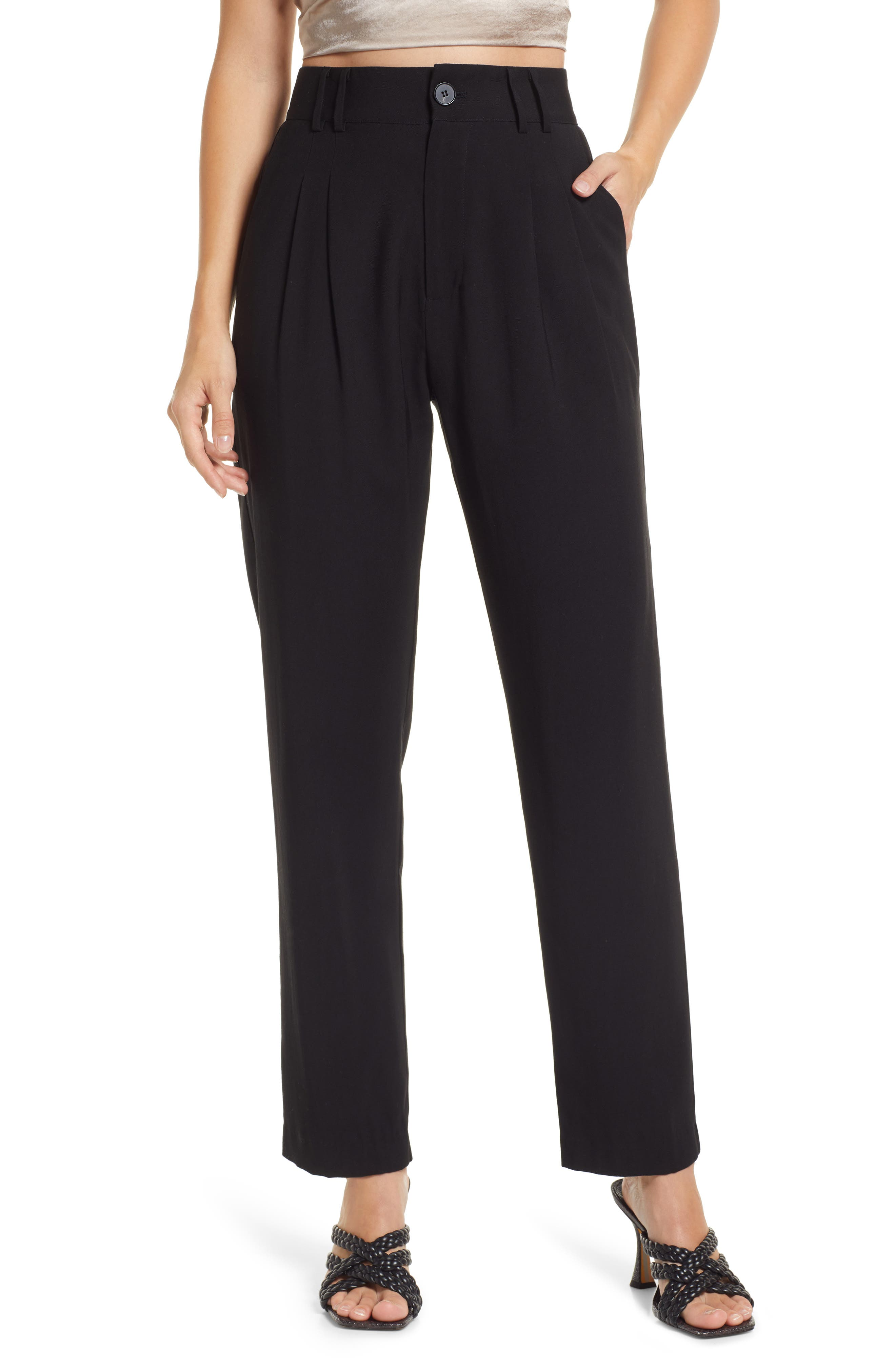 Strictly Business High Waist Taper Pants