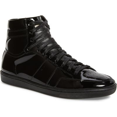 Saint Laurent Sl/10H Signature Court Classic High Top Sneaker, Black