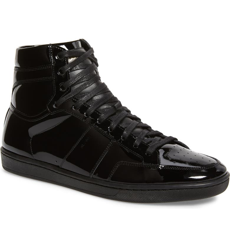 SAINT LAURENT SL/10H Signature Court Classic High Top Sneaker, Main, color, NERO