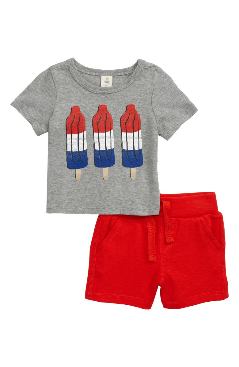 TUCKER + TATE My Favorite Graphic T-Shirt & Shorts Set, Main, color, 030