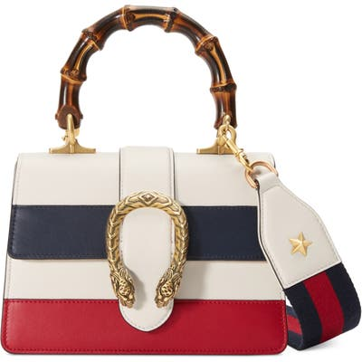 Gucci Mini Dionysus Leather Top Handle Satchel - White
