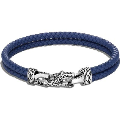 John Hardy Asli Classic Chain Double Woven Leather Bracelet