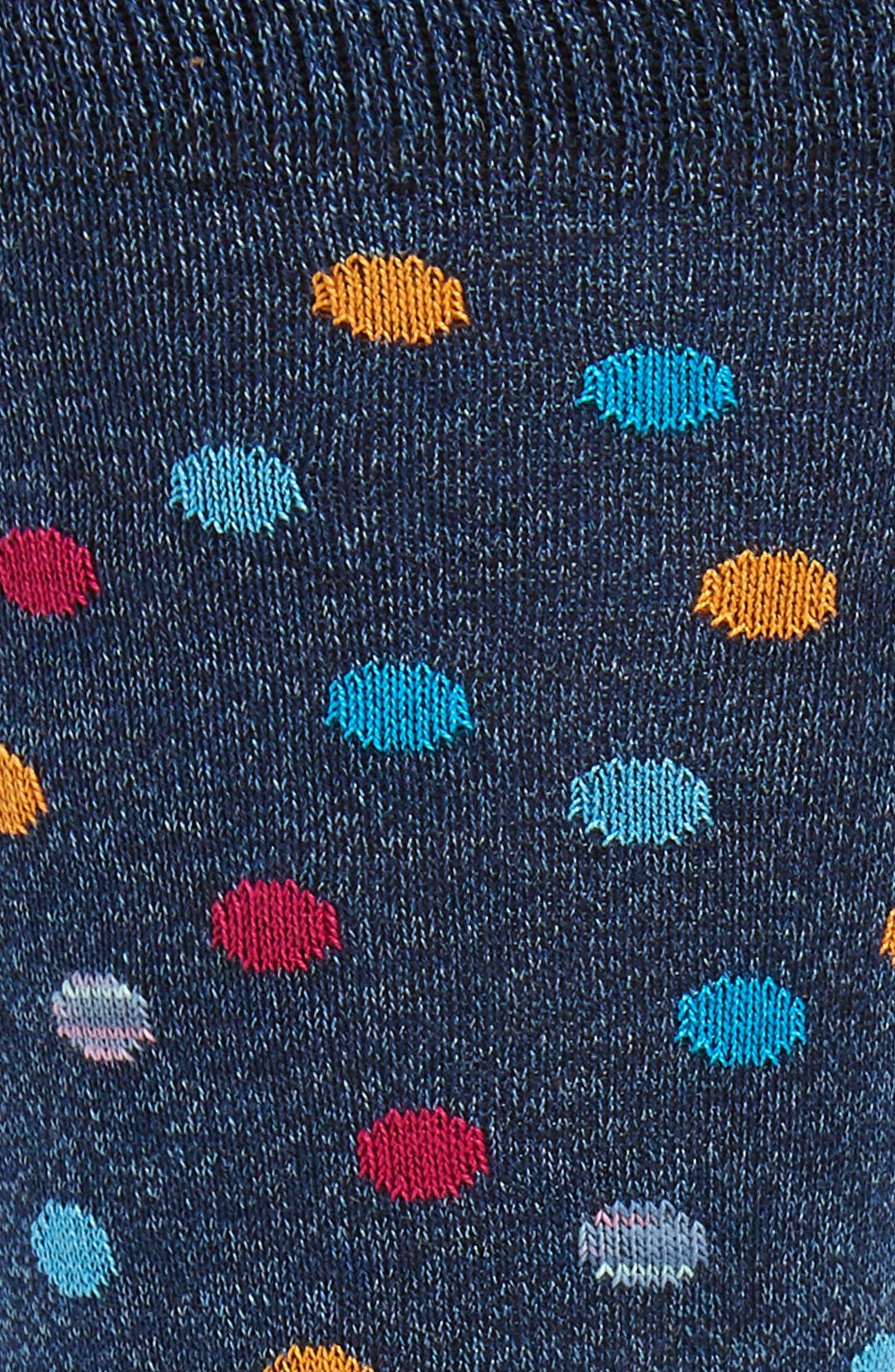 ,                             Dot Mercerized Cotton Blend Socks,                             Alternate thumbnail 2, color,                             DENIM