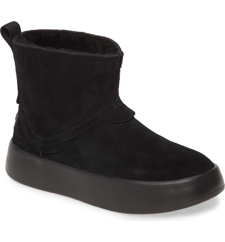 UGG<SUP>®</SUP> Classic Boom Platform Bootie, Main, color, BLACK SUEDE