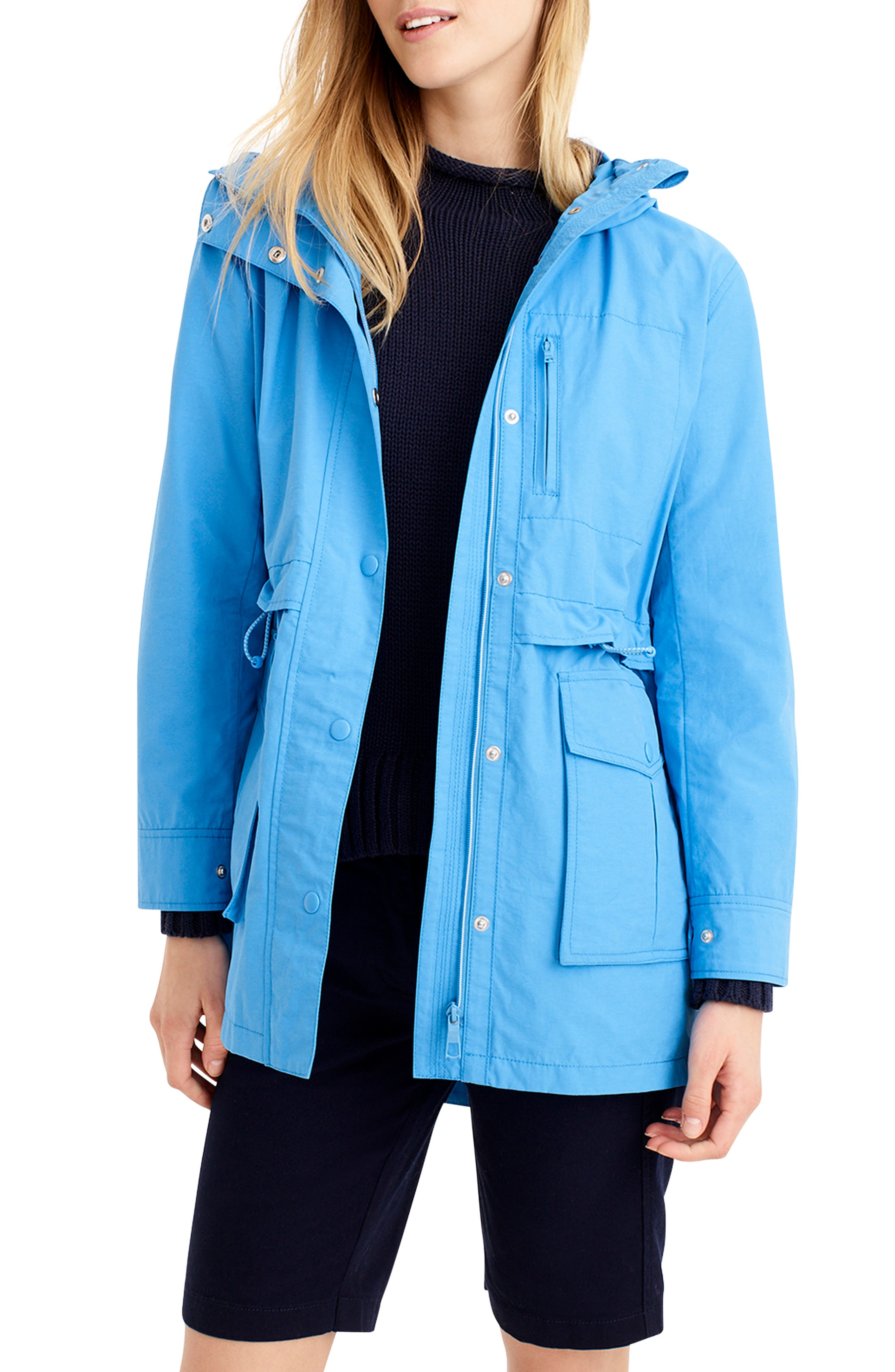 Perfect Raincoat, Main, color, WATERCOLOR SKY